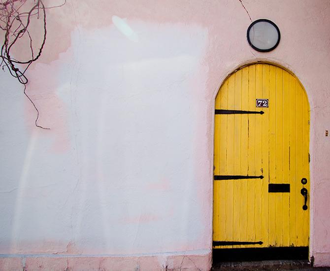 door in Greenwich Village